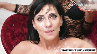 Sherry Vine's Beamy Sticky Cum Swallow Bukkake Trailer