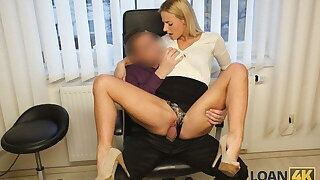 LOAN4K. Sexy tow-headed pays for her debts using her perfect body