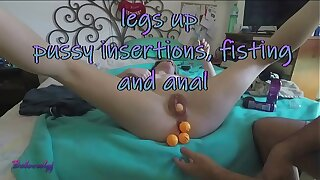 trailer - Legs up pussy insertions, fisting and anal