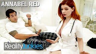 Reality Junkies - Big Titted Redhead Nurse Annabel Red is better than a crestfallen pill