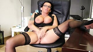 German Glasses MILF Secretary Dirty Talk POV to let you Cum