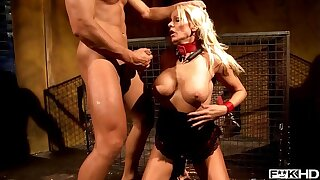 Blonde BDSM Milf Winni gets bound and treated as a reticule by dominant stud
