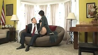 Roxanne is blackmailed by her boss's descendant who fucks her in be imparted to murder office