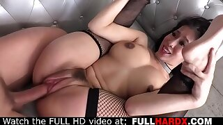 Hot Asian in fishnet stockings sprayed by huge cock (Jessy Jones , Jade Kush)