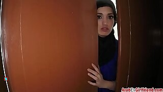 Elegant Arab wife left by husband resolved to sold the brush shaved tight p-for-sex-3