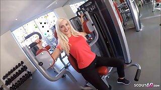 Skinny German Fitness Girl Picks up coupled with Fucks Stranger fro Gym