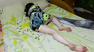 My sister is well done encircling this dress ... oh god she fell sleepy .... I want to fuck her