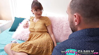 Nerdy Teen Stepdaughter's Cumming of Age - Honey Hayes